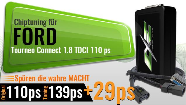 Chiptuning Ford Tourneo Connect 1.8 TDCI 110 ps