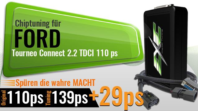 Chiptuning Ford Tourneo Connect 2.2 TDCI 110 ps