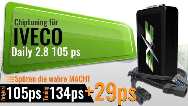 Chiptuning Iveco Daily 2.8 105 ps