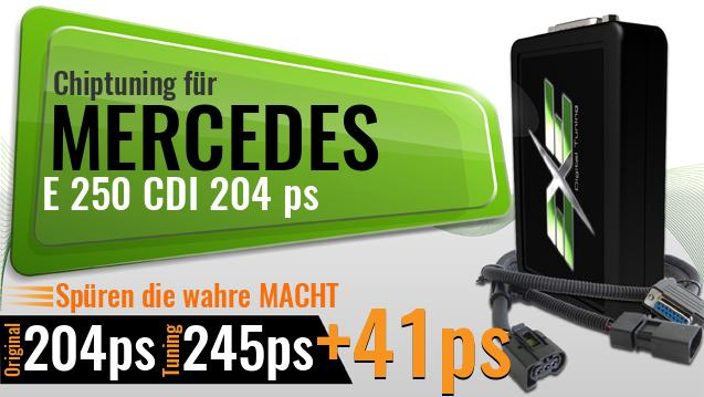 Chiptuning Mercedes E 250 CDI 204 ps