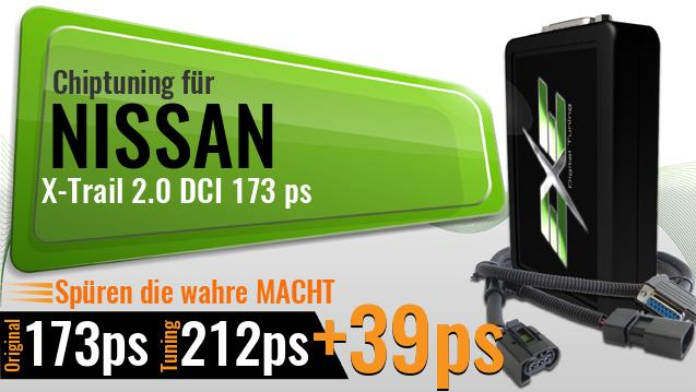 Chiptuning Nissan X-Trail 2.0 DCI 173 ps
