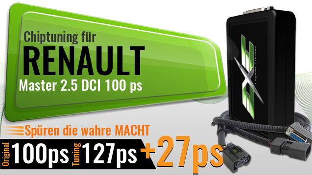 Chiptuning Renault Master 2.5 DCI 100 ps