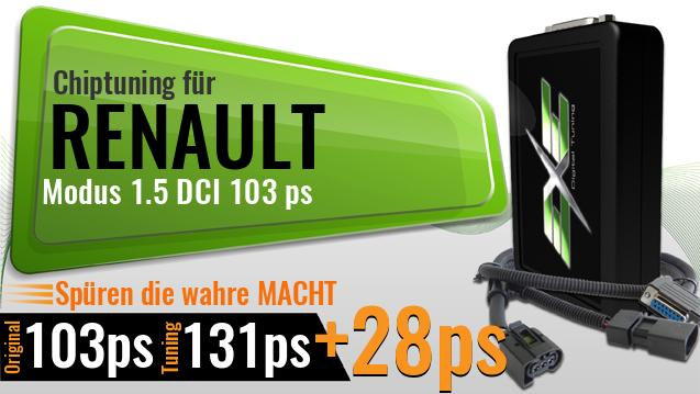 Chiptuning Renault Modus 1.5 DCI 103 ps