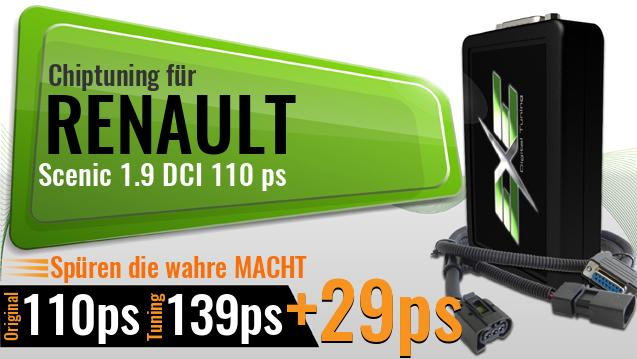 Chiptuning Renault Scenic 1.9 DCI 110 ps