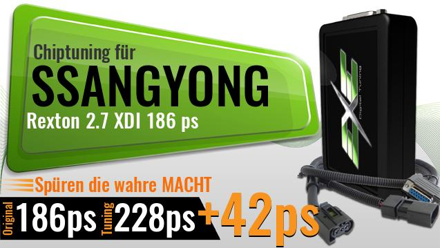 Chiptuning Ssangyong Rexton 2.7 XDI 186 ps