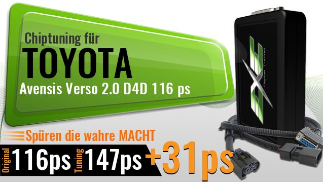Chiptuning Toyota Avensis Verso 2.0 D4D 116 ps