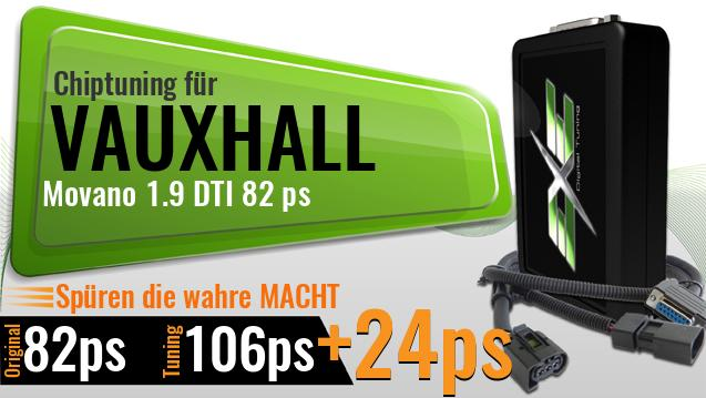 Chiptuning Vauxhall Movano 1.9 DTI 82 ps
