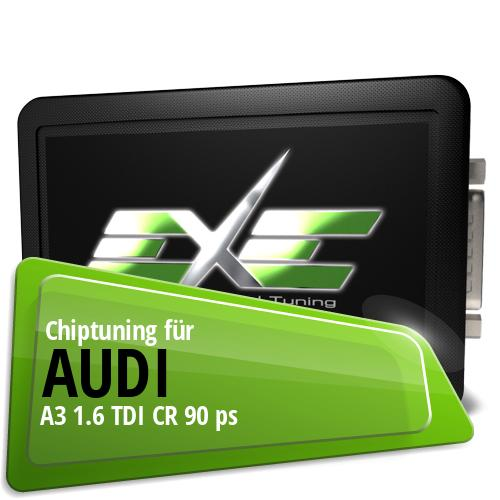 Chiptuning Audi A3 1.6 TDI CR 90 ps