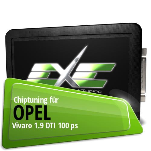 Chiptuning Opel Vivaro 1.9 DTI 100 ps
