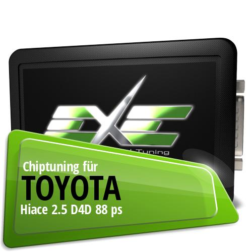 Chiptuning Toyota Hiace 2.5 D4D 88 ps